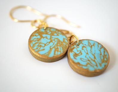 polymer-clay-silkscreen-earrings-diy